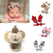 Newborn Infant Baby Girls Boys Summer Crib Shoes 3 Style Seq
