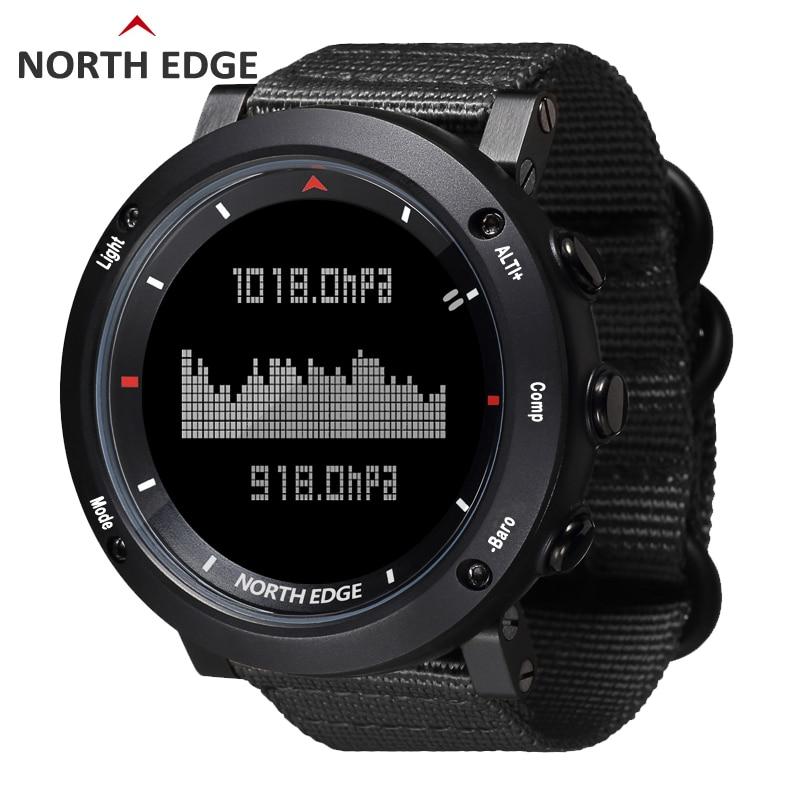 Sports Watches Barometer North-Edge Running Waterproof Compass Military Swimming Army-Hours