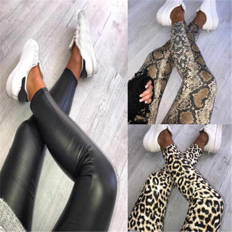 Collectie Womens Ladies Leopard Snake Animal Print Hoge Taille Elastische Leggings Skinny Broek