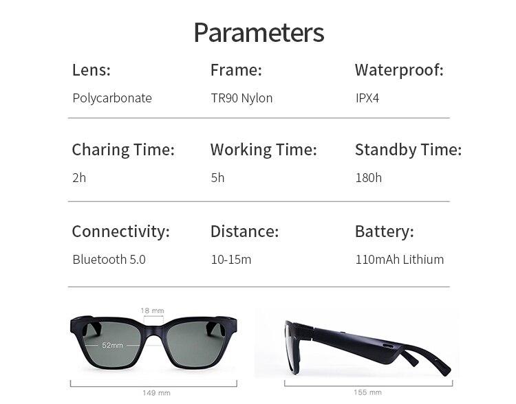 compatível com telefones inteligentes óculos de sol bose
