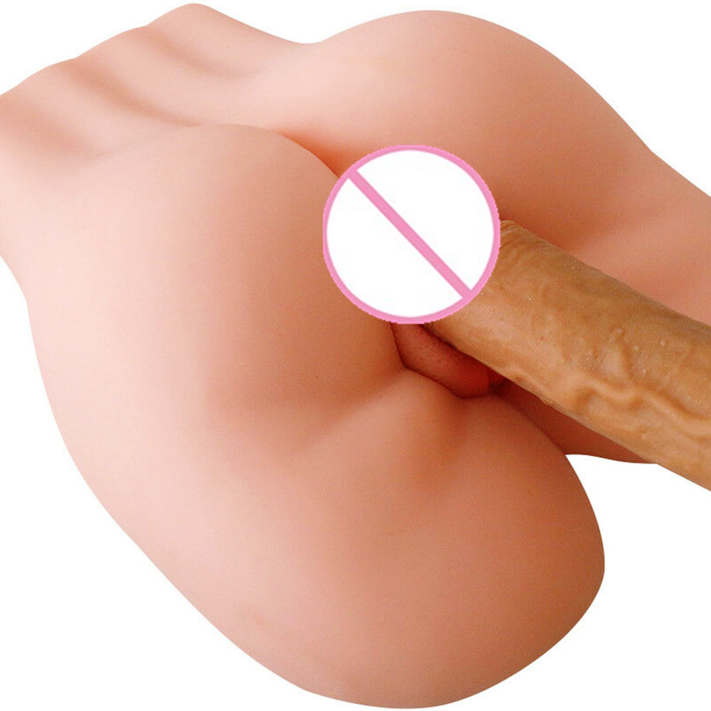 Realistic Male Masturbators Silicone 3D Ass With Artificial Vagina Anal Adult Sex Toy For Men Half Body Sex Doll