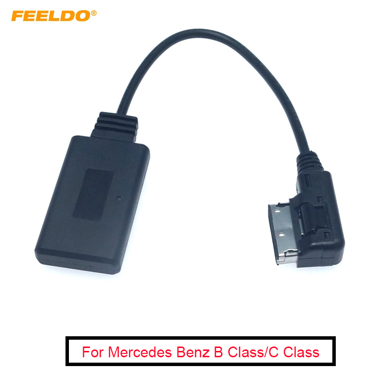 FEELDO 4Pcs Car Audio Radio AUX Cable Adapter For Mercedes Benz AMI Interface For Bluetooth Wireless Receiver Music AUX Adapter