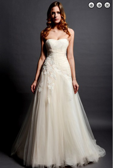 Free Shipping New Fashion 2016 Hot Bridal Dress Lace Appliques Tule Brides Gown Long Dress Plus Size Designer Wedding Dresses