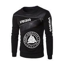 2020 neue Odin Viking Valhalla Frühling Und Herbst Stil Komfortable Rundhals Patchwork Mode Wilden Freizeit Hip-hop Fitness tops
