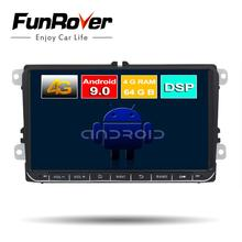 Funrover 2 Din Octa Core Android9.0 Car dvd gps multimedia stereo For Volkswagen Golf Polo B6 B7 Jett Radio navi DSP 4G 64G LTE