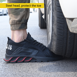 Image 3 - New winter solid safety shoes steel head anti smashing stab resistant work shoes breathable protection toe
