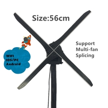 DISPLAMAX 56cm WIFI Version  Latest (IOS/Android) Advertising Hologram Display Fan, 3D LED Holographic