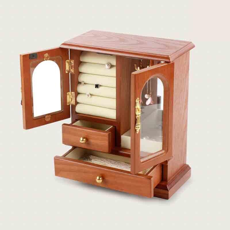 Boîte de rangement en bois surdimensionné coffre à trésor serrure organisateur boîte en bois décor à la maison conteneur bibelot bijoux Bin organisateur de maquillage
