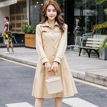 Осеннее женское элегантное платье с поясом и длинными рукавами, английский стиль, OL платье B012