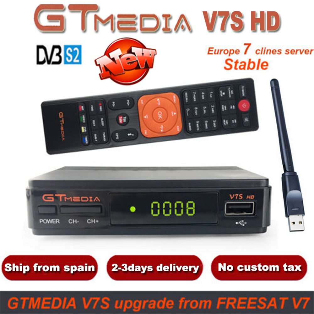 DMYCO Satellite Receiver V7SHD DVB-S2 Lnb TV Decoder With 7 Cable Europe Portugal Spain Poland Support Powervu Youtube Receptor