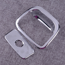цена на DWCX Chromed Dashboard Storage Box Handle Cover Trim ABS Fit for Jeep Grand Cherokee 2011 2012 2013 2014 2015 2016 2017 2018