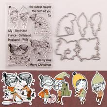 Рождественские штампы и для мальчиков девочек прозрачный штамп