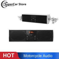 À prova dwaterproof água da motocicleta bluetooth sistema de som áudio display led app controle mp3/tf/usb fm rádio alto falantes estéreo moto acessórios