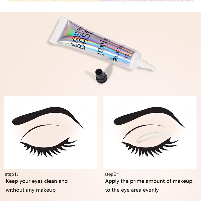 MEIS Cream Eyeshadow Primer Enhancers Shadow Color Smooth Long Lasting Waterproof Eye Shadow Base Protecting Eyes Makeup 10ml in Eye Shadow from Beauty Health
