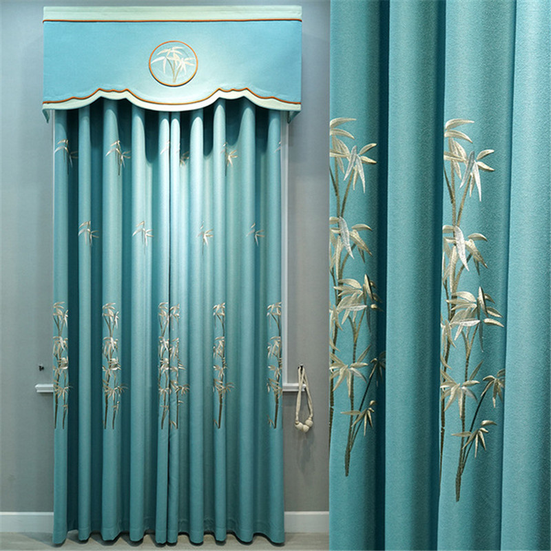 check MRP of blue curtains living room