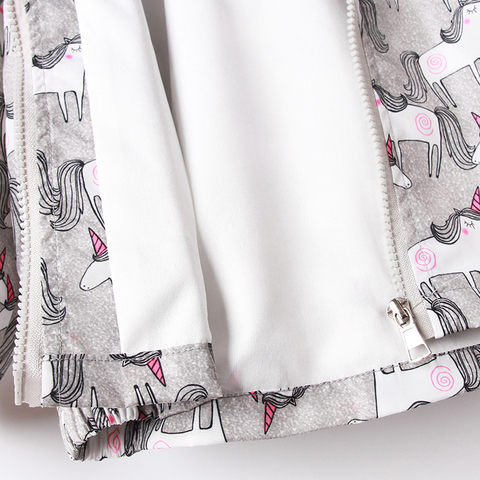 2020 cinza unicornio imprimir fino meninas outerwear