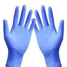 50PC / Set Disposable Gloves Thickened Latex Nitrile Waterproof Rubber Plastic Suitable For Catering