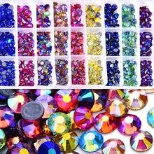 Hotfix Rhinestones Strass-Glue Ab Crystal Shimmer Glass Mix 1200pcs/Box Better Dmc-F0269