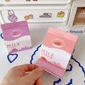 Creative Strawberry Milk Box Craft Drawing Post-it Paper Girl Heart Pink N Pay Kawaii Memo Pad Stationery Writing Paper Book