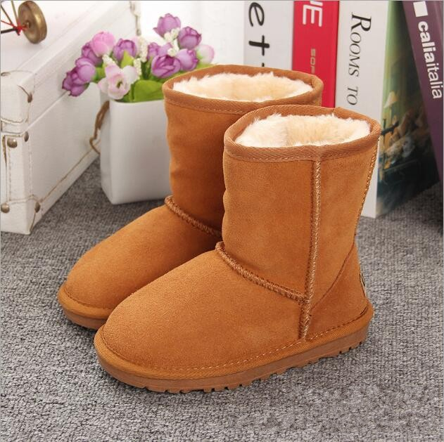 SHUNYAO New Children Boots Australia Waterproof Girls Boys Snow Boots Baby Winter Boot Fur Warm Boots For Kids Size 21-35
