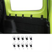 Caja de cola de coche con hebilla de tracción, molduras interiores de automóviles para Suzuki Jimny 2019 2020 2021 JB64 JB74, 10 Uds.