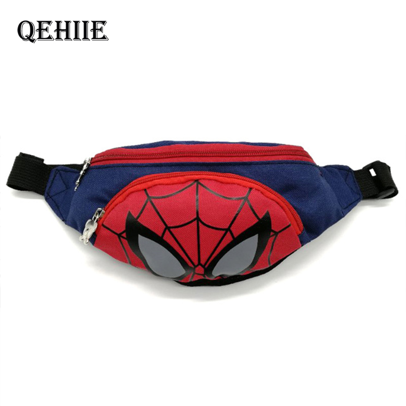 New Boy And Girl Fanny Pack Trend Waist Bags For Kids Minnie Kids Fanny Pack Spiderman Adjustable Banana Bag Shoulder Kidney Bag