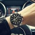 Новые люксовые часы от бренда MEGIR  Для Мужчин's часы лучший бренд класса люкс Большой циферблат кварцевые наручные часы Для мужчин полный Ста...