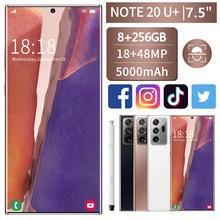 2021 7.5 Cal Sam Xung Note20U + inteligentny telefon duży ekran 10-core MTK6889 5000mAh długopis 8 + 256GB
