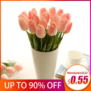 Tulip Artificial Flowers Garden Tulips artificial Flower for decoration room Tulip Flowers Mariage For Wedding Decor Fake Flower