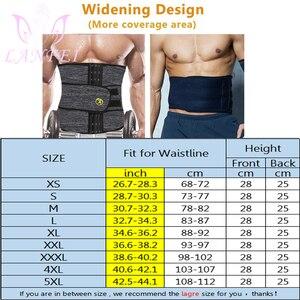 Image 4 - LANFEI Mens Thermo Neoprene Body Shaper Waist Trainer Belt Slimming Corset Waist Support Sweat Cinchers Underwear Modeling Strap
