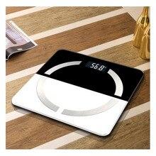 Интеллектуальные электронные весы с Bluetooth для измерения жира, здоровья человека, дома, индукционные электронные весы из закаленного стекла, напольные весы