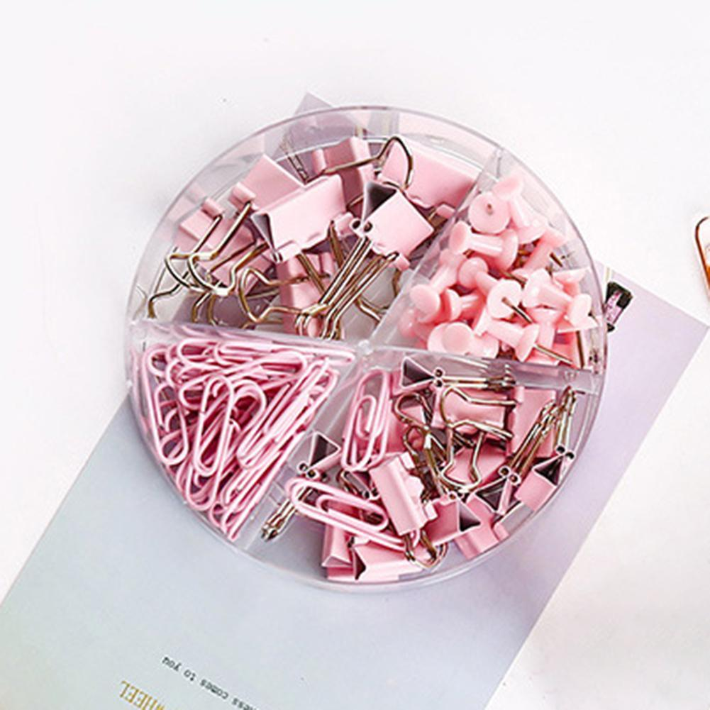 Metal File Paper Clips Binder Clamps Ticket Holder Office School Stationery Binding Supplies Paper Clip Cute Fashion School