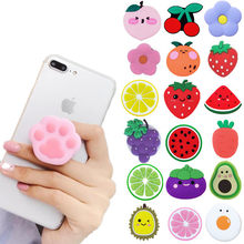 NEW 1PC Fruit Universal Airbag Mobile Phone Bracket For iPhone Samsung Huawei Cute Animal Finger Holder Air Bag Expanding Stand