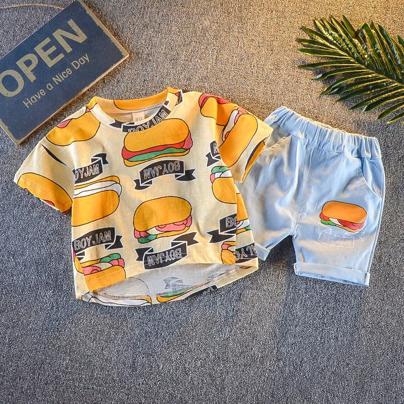 Baby Boy Clothing Set Summer pullover T-Shirt Cartoon Children's clothing Boys Clothes Shorts Suit for Kids Outfit