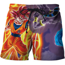 Dragon Ball Z Goku Print Swimwear Men Sexy Casual Board short Fitness Mens 6XL Beach Shorts Funny 3D Swimsuit Shorts Summer 2019(China)