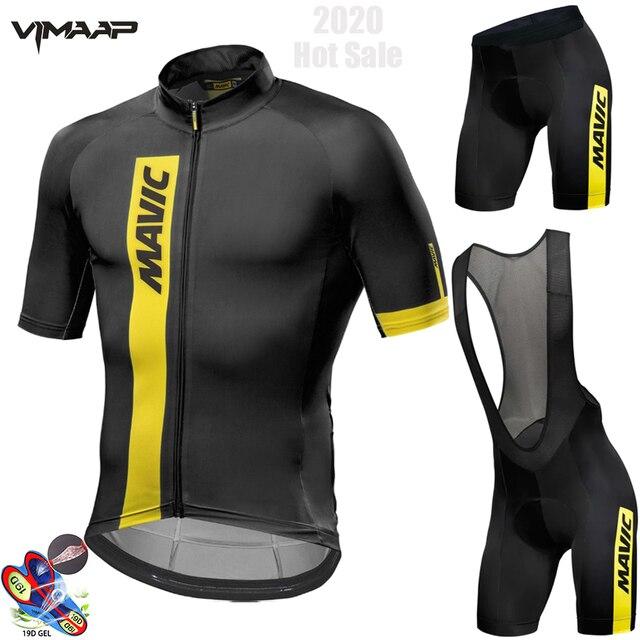 Mavic 2019 conjunto para ciclismo em jérsei mtb, camiseta e macacão para ciclismo em jérsei roupas de ciclismo camisa para competição de ciclismo traje para andar de bike 1