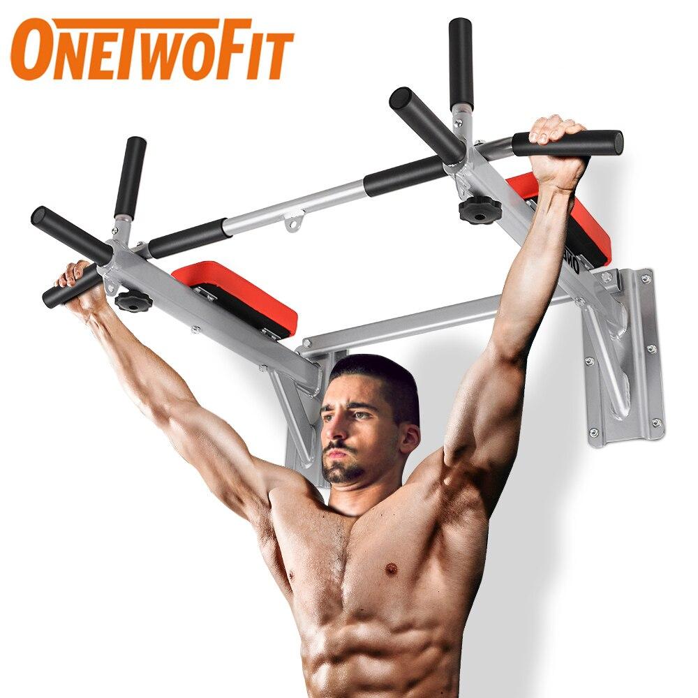 ONETWOFIT – barre de traction murale, barre horizontale pour le menton et l'entraînement physique