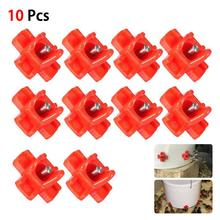 10PCS Water Purifier Direct Drink Chicken Drinker Automatic Poultry Drinking Tool Farm Drinker For Egg Incubator Set Accessary недорого