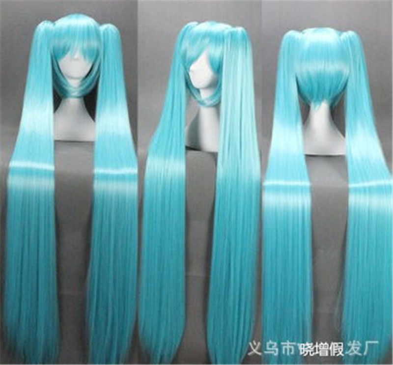 2020 New Vocaloid Cosplay Wig Hatsune Miku Costume Play Wigs Halloween Party Anime Game Hair