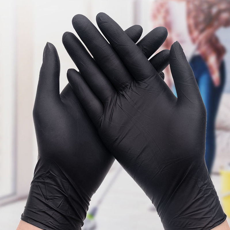 20/100PCS Nitrile Black Disposable Medical Gloves Food Home Kitchen Cleaning Rubber Gloves Anti-static Work Safety Latex Gloves