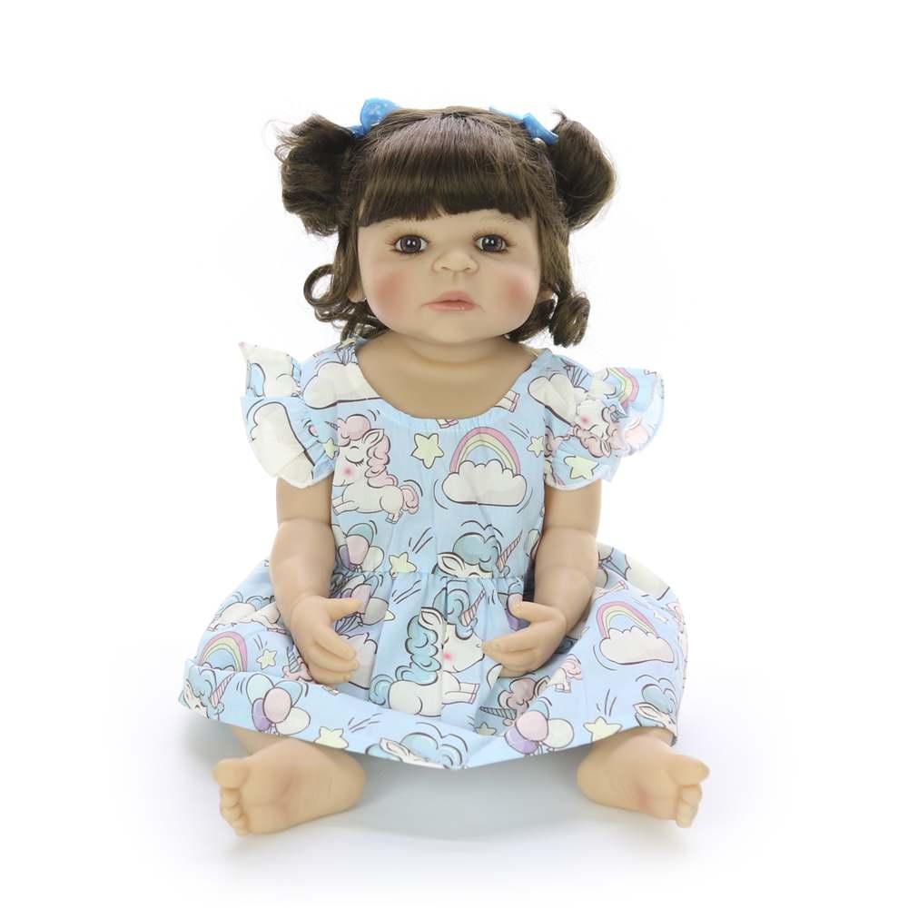 22 ''55 cm Silicone corps complet Reborn poupées mode réaliste Reborn Boneca vivant poupée pour enfants jour cadeaux enfants présents - 2