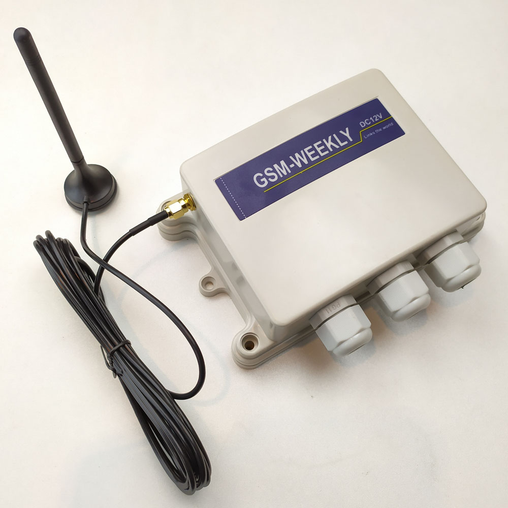 GSM Remote Controller Box Two Output One Alarm Input And Rechargeable Lithium Battery On Board For Safety Alarm
