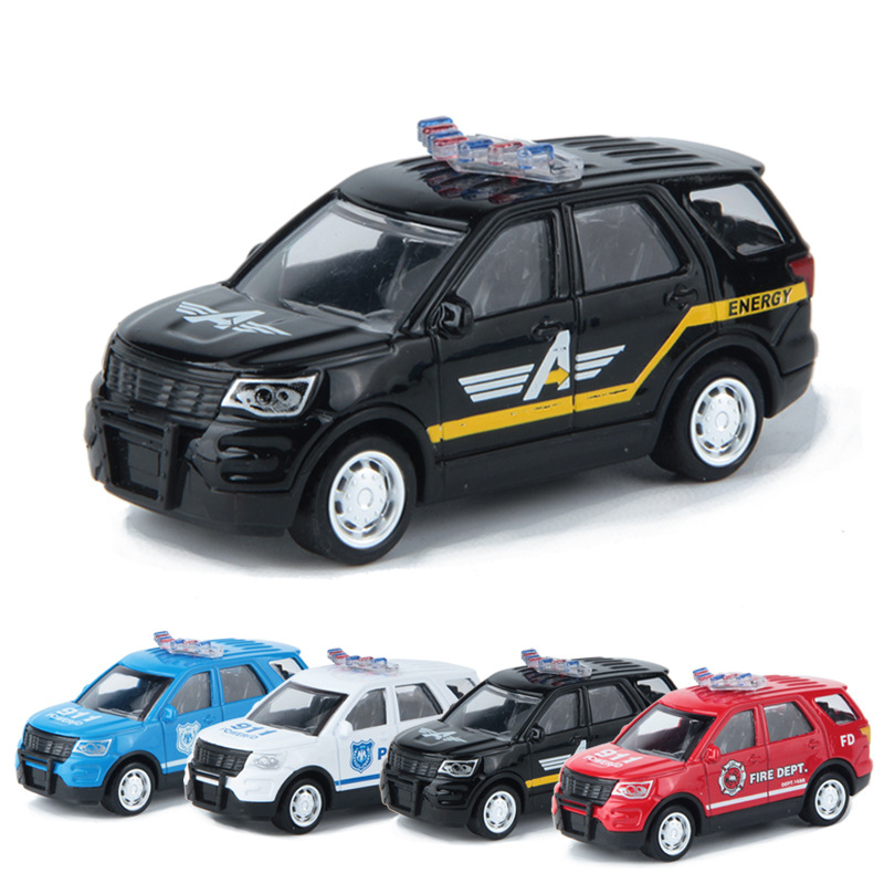 Alloy Toy Car <font><b>Model</b></font> <font><b>Ford</b></font> Rescue Fire Truck American-Style <font><b>Model</b></font> Police Car 1: 43 Customizable image