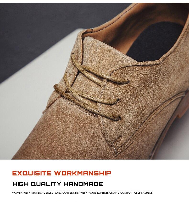 Habc74f7d92264d1f97e3624c6c48e5897 Merkmak Fashion England Trend Casual Shoes Men Flock Oxford Wedding Leather Dress Men Flats Waterproof Men Shoes Plus Siz