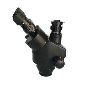 Image 4 - Rosja darmowa wysyłka 7 45X 3.5X 90X Trinocular Stereo Zoom duży stół stojak mikroskop z 0.5X 2.0X pomocniczy obiektyw