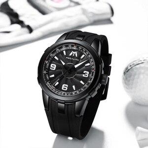 Image 2 - MEGALITH Men Military Watches Creative Turbine Rotation Dial Watch Sport Waterproof Quartz Watches Mens Clock Relogio Masculino