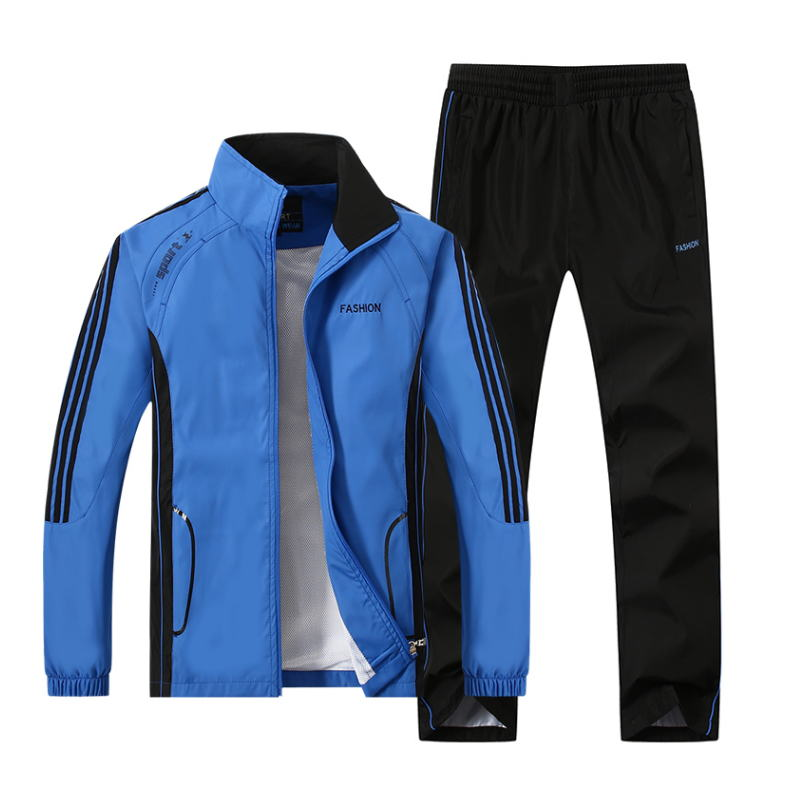 Spring Autumn Tracksuit Men Two Piece Clothing Sets Casual Track Suit Sportswear Mens Sweat Suits Plus Size 4XL 5XL 2019 New