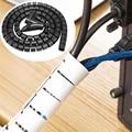 Кабельный провод обертывание Организатор спиральная трубка кабель намотки шнур протектор гибкое управление провода хранения трубы