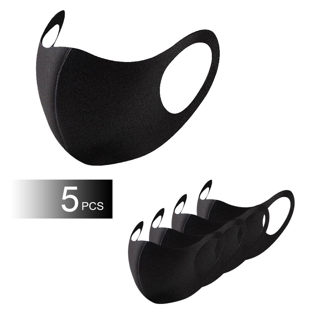 1pcs/5pcs Reusable Breathable Three-dimensional Mask Face Cover Adult Unisex Mouth Mask
