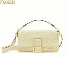 FOXER 100% Genuine Leather Fashion Messenger Bag,2019 Free Shipping Luxury Women Bags Handbags,Leisure Shoulder Crossbody